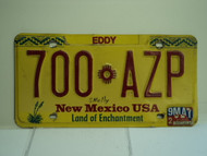 NEW MEXICO Land of Enchantment License Plate 700 AZP