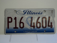 ILLINOIS Land of Lincoln License Plate P16 4604