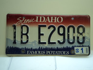 2005 IDAHO Famous Potatoes License Plate 1B E2908