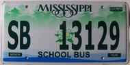 Mississippi School Bus SB 13129 License Plate