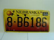 2004 NEBRASKA License Plate 8 B6186