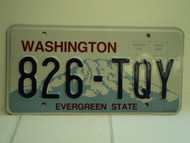 WASHINGTON Evergreen State License Plate 826 TQY