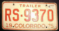 1976 Jefferson Colorado License Plate RS-9370