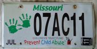 2011 July Missouri Children's Trust Fund License Plate