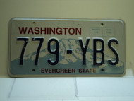 Washington Evergreen State License Plate 779 YBS