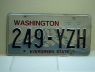 Washington Evergreen State License Plate 249 YZH