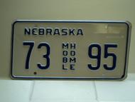 NEBRASKA Mobile Home License Plate 73 AGR 94