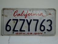 CALIFORNIA Lipstick License Plate 6ZZY763