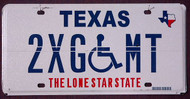 Texas Error Plate Wheelchair Flat