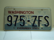 Washington Evergreen State License Plate 975 ZFS