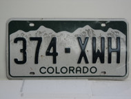 COLORADO License Plate 374 XWH
