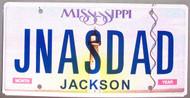 Mississippi Vanity License Plate JNASDAD