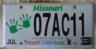 2011 July Missouri Children's Trust Fund License Plate 1