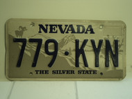 NEVADA Silver State License Plate 7790 KYN