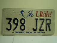 UTAH SKI Greatest Snow on Earth License Plate 398 JZR