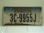 MONTANA Big Sky License Plate 3C 9955J