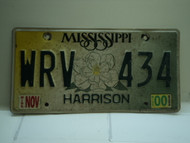 2000 MISSISSIPPI Magnolia License Plate WRV 434