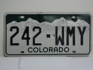 COLORADO License Plate 242 WMY