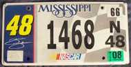 2008 Mississippi 1468N48 License Plate