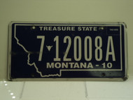 2010 MONTANA Treasure State License Plate 7 12008A