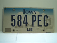 IOWA License Plate 584 PEC