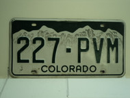 COLORADO License Plate 227 PVM