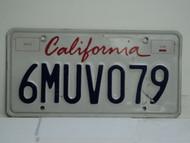 CALIFORNIA Lipstick License Plate 6MUV079