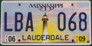 2009 Jun Mississippi LBA 068 License Plate