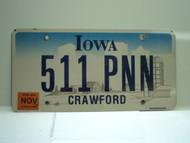 2006 IOWA License Plate 511 PNN