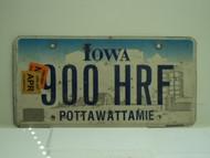 2006 2007 IOWA License Plate 900 HRF
