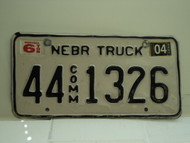 2004 NEBRASKA Commercial Truck License Plate 44 1326