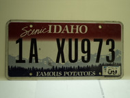 2011 IDAHO Scenic Famous Potatoes License Plate 1A XU973