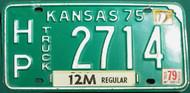 1975 1977 1979 Kansas License Plate HP 2714