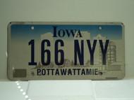 IOWA License Plate 166 NYY
