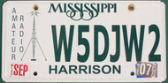 2007 Mississippi Amateur Radio License Plate