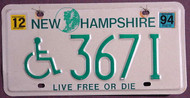 New Hampshire Live Free or Die Wheelchair 1994