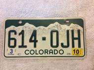 2010 Mar Colorado 614-OJH License Plate