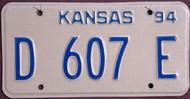 Kansas Dealer 1994 License Plate 3
