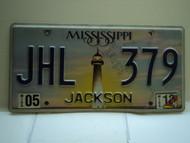 2010 MISSISSIPPI Lighthouse License Plate JHL 379