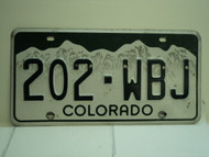 COLORADO License Plate 202 WBJ