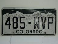 COLORADO License Plate 485 WVP