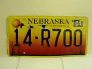 2004 NEBRASKA License Plate 14 R700