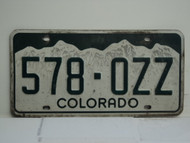 COLORADO License Plate 578 OZZ