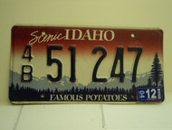 2004 IDAHO Famous Potatoes License Plate 4B 51 247