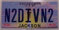 Mississippi Vanity License Plate N2DIVN2