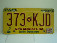 1998 NEW MEXICO Land of Enchantment License Plate 373 KJD
