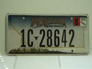 2008 MONTANA Big Sky License Plate 1C 28642