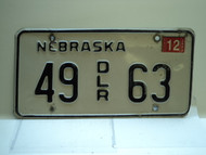 2005 NEBRASKA Dealer License Plate 49 DLR 63