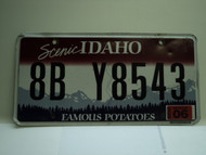 2009 IDAHO Scenic Famous Potatoes License Plate 8B Y8543
