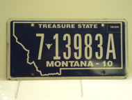 2010 MONTANA Treasure State License Plate 7 13983A